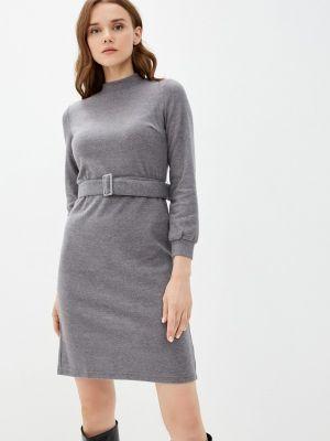 Серое прямое платье Zolla