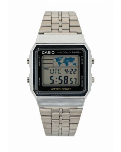 Кварцевые часы серебряные Casio