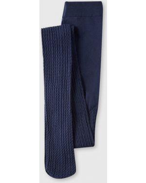 Нейлоновые синие колготы Ostin