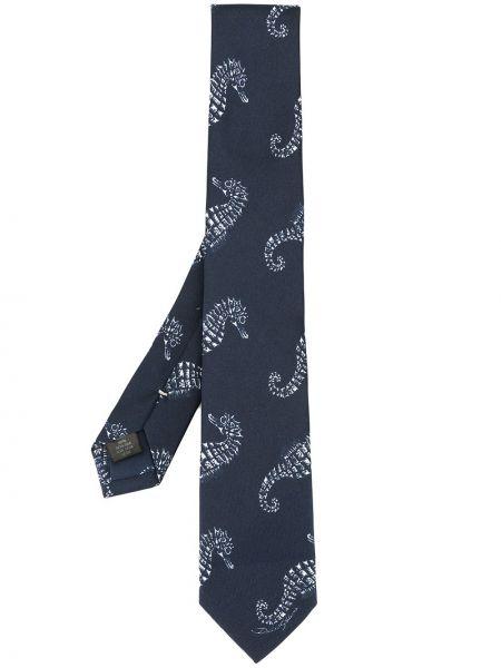 Krawat niebieski Dolce And Gabbana