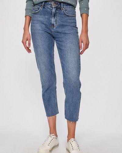 Прямые джинсы с эффектом потертости синие Only