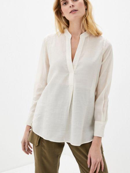 Бежевая блузка с длинным рукавом Nice & Chic