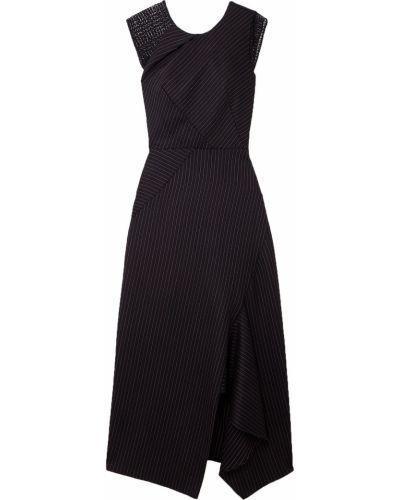 Шерстяное платье миди - черное Roland Mouret