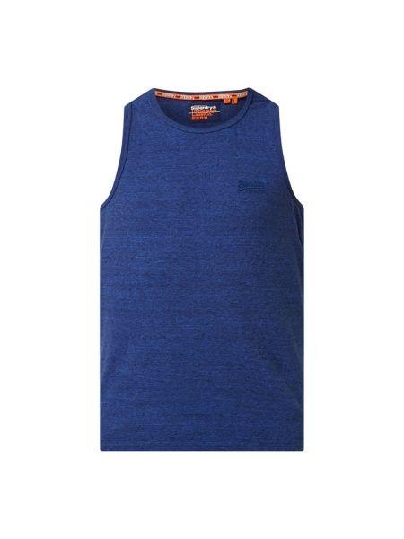 Bawełna bawełna niebieski top z dekoltem Superdry
