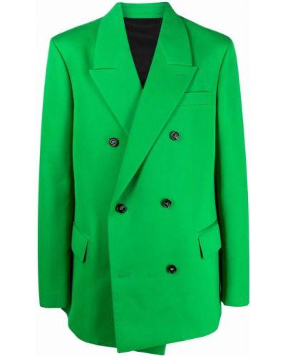 Zielona marynarka bawełniana Bottega Veneta