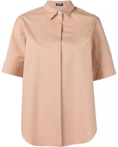 Классическая рубашка на пуговицах однотонная Jil Sander Navy