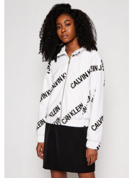 Biała kurtka jeansowa Calvin Klein Jeans