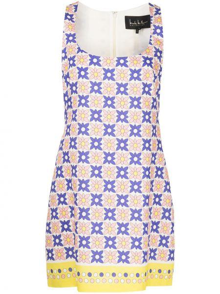Платье в цветочный принт с вырезом без рукавов Nicole Miller