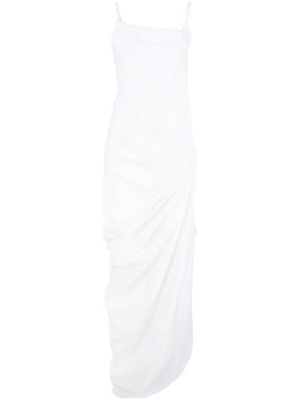 Z paskiem asymetryczny sukienka z falbankami Jacquemus