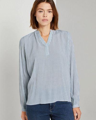 Синяя блузка с длинным рукавом с длинными рукавами Tom Tailor Denim