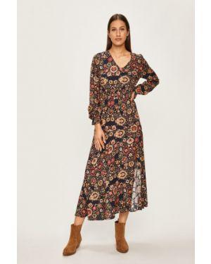 Sukienka midi z długim rękawem codzienna Answear
