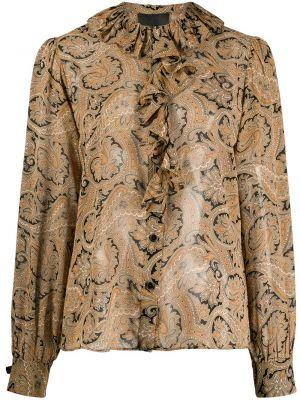 Шелковая рубашка - коричневая Nili Lotan