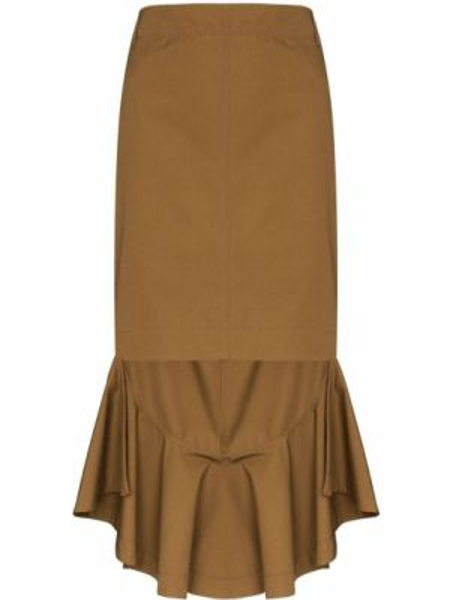 Юбка с завышенной талией с воланами Givenchy