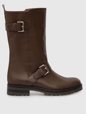 Кожаные сапоги - коричневые Max & Co
