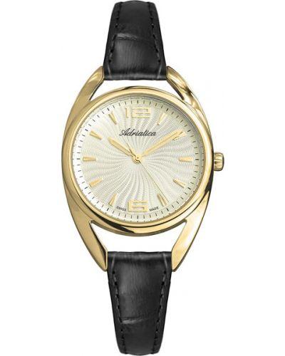 Часы на кожаном ремешке кварцевые водонепроницаемые Adriatica