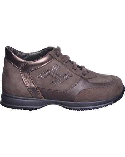 Кроссовки коричневый Hogan