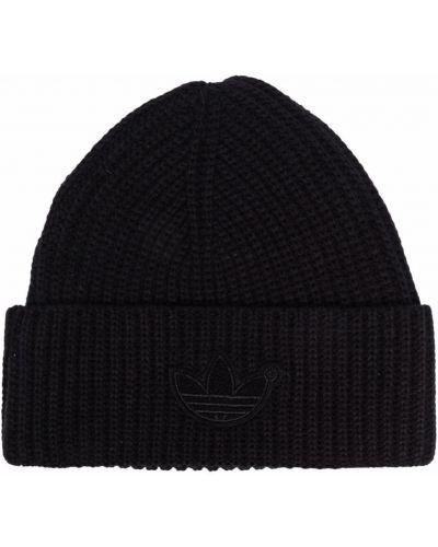 Шерстяная шапка бини - черная Adidas