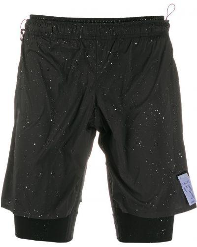 Короткие шорты черные на резинке Satisfy