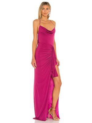 Różowa sukienka na wesele z falbanami Katie May