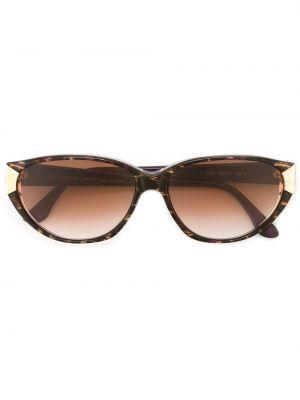 Прямые муслиновые черные солнцезащитные очки Givenchy Pre-owned