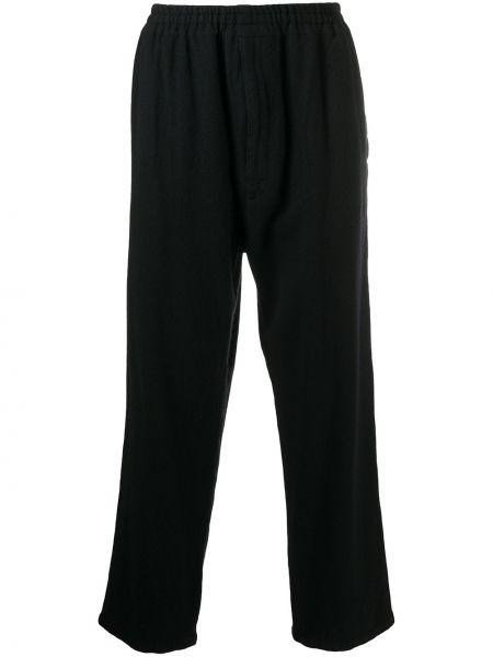 Bezpłatne cięcie wełniany spodni czarny spodnie Undercover
