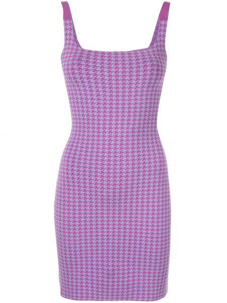 Fioletowa sukienka bawełniana Nagnata