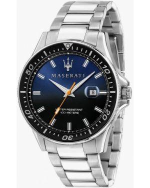 Серебряные часы Maserati