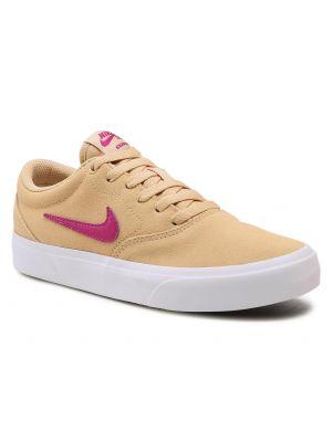 Żółte półbuty zamszowe Nike