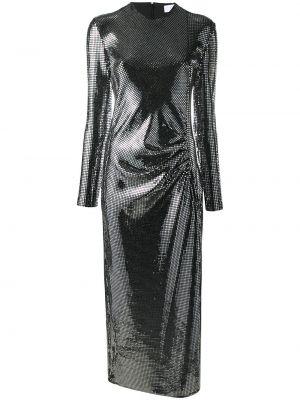 Sukienka midi z długimi rękawami srebrna Racil