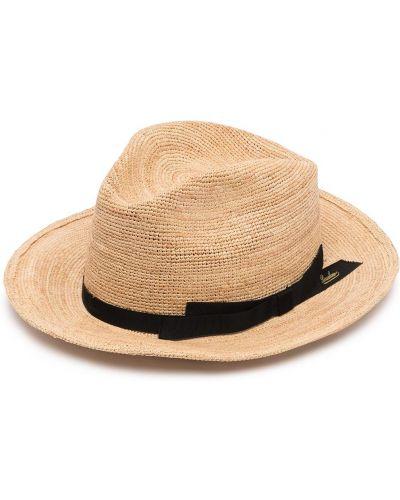 Шляпа с узкими полями - коричневые Borsalino