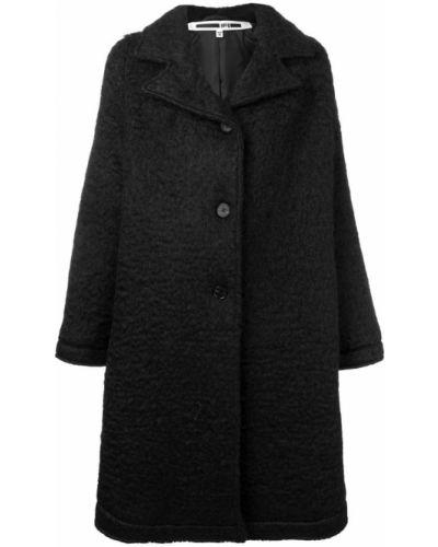 Черное пальто с капюшоном на пуговицах Mcq Alexander Mcqueen