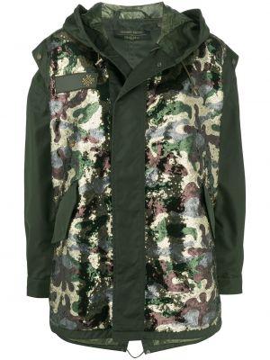 Пальто с капюшоном - зеленое Mr & Mrs Italy