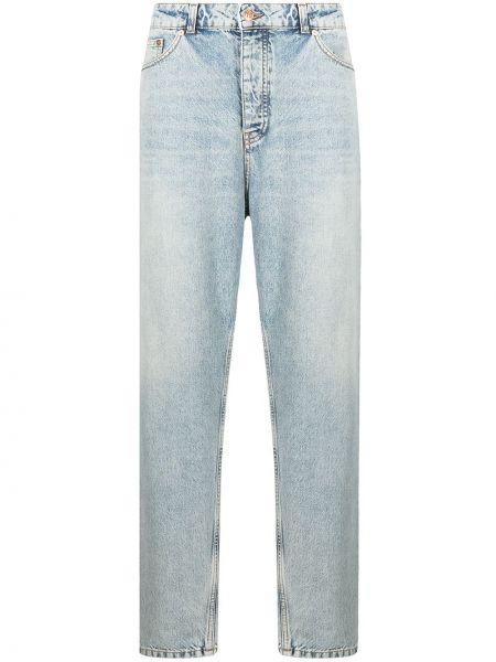Bawełna bawełna niebieski klasyczny jeansy z paskiem Tom Wood