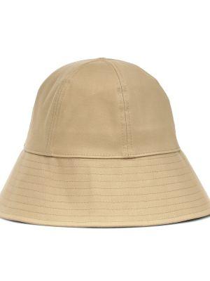 Ватная хлопковая желтая шапка Jil Sander