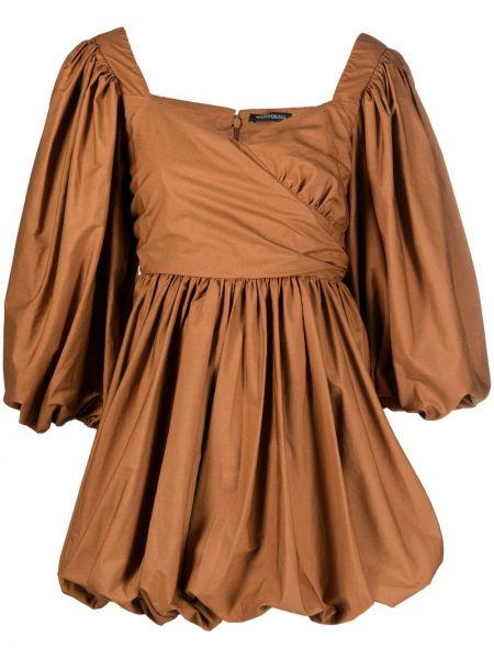 Хлопковое платье мини с вырезом на молнии Wandering