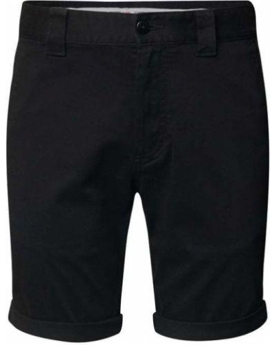 Czarne szorty jeansowe bawełniane Tommy Jeans