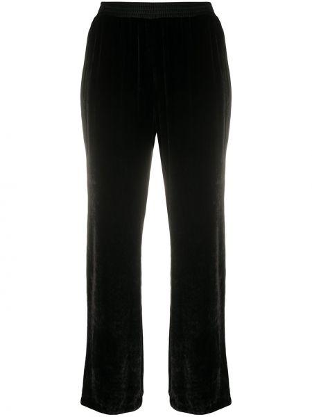 Черные прямые спортивные брюки с поясом с высокой посадкой Ermanno Scervino