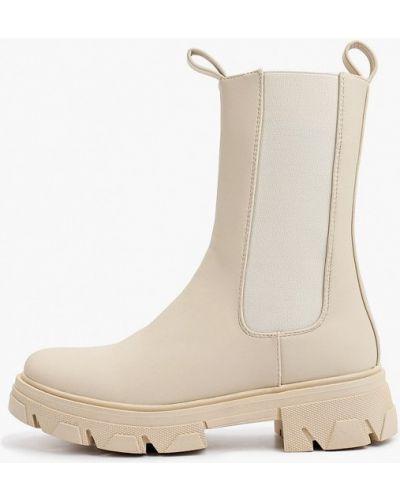 Бежевые демисезонные сапоги Ideal Shoes®