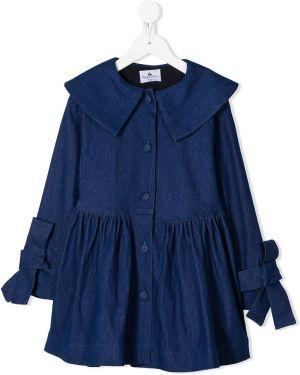 Długi płaszcz z kołnierzem niebieski Raspberry Plum