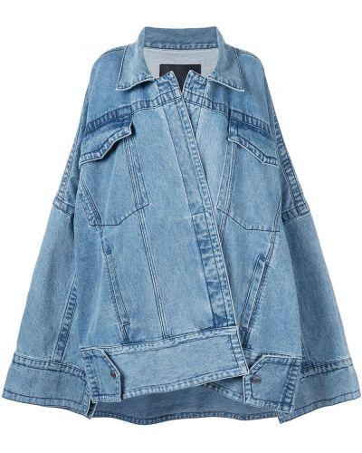 Классическая синяя джинсовая куртка свободного кроя Pony Stone