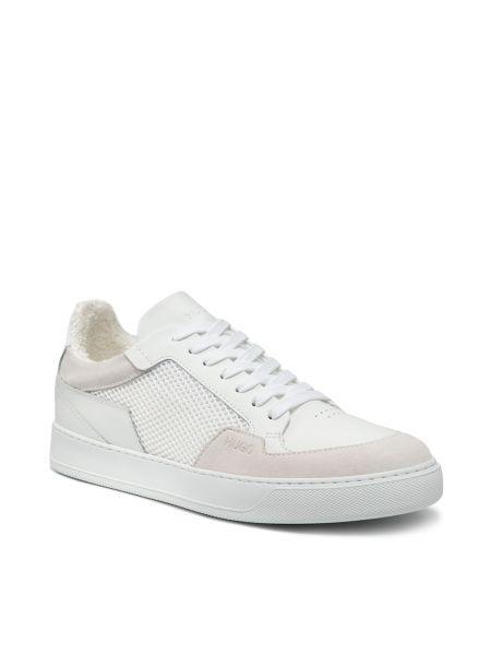 Buty sportowe skorzane - białe Hugo