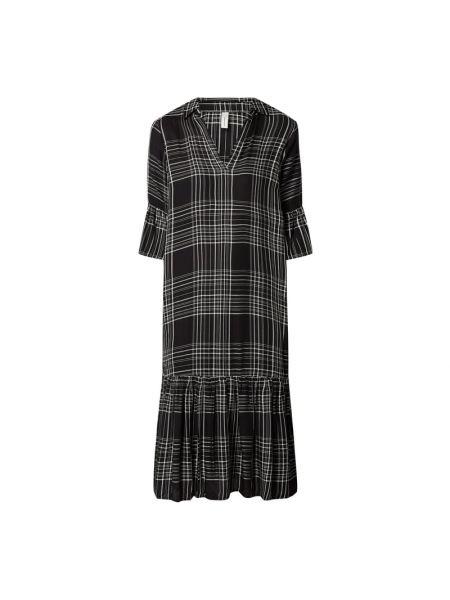 Czarna sukienka rozkloszowana z wiskozy Soyaconcept