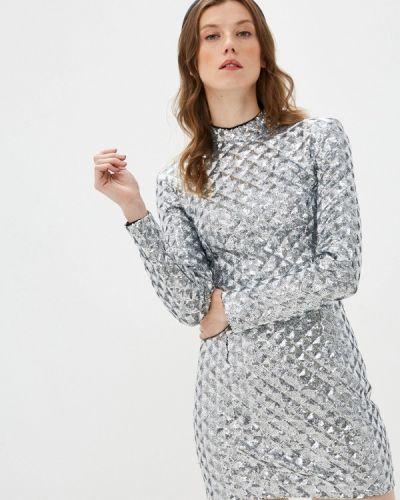 Серебряное вечернее платье Self Made