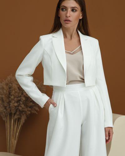 Пиджак короткий - белый Lipar