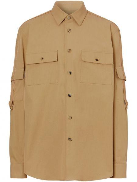 Koszula z długim rękawem klasyczna z łatami Burberry