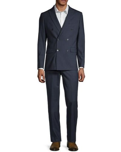 Шерстяной костюм двубортный с длинными рукавами Calvin Klein