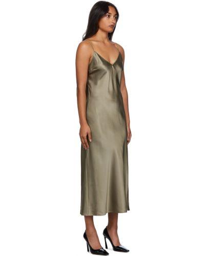 Шелковое платье - хаки Joseph