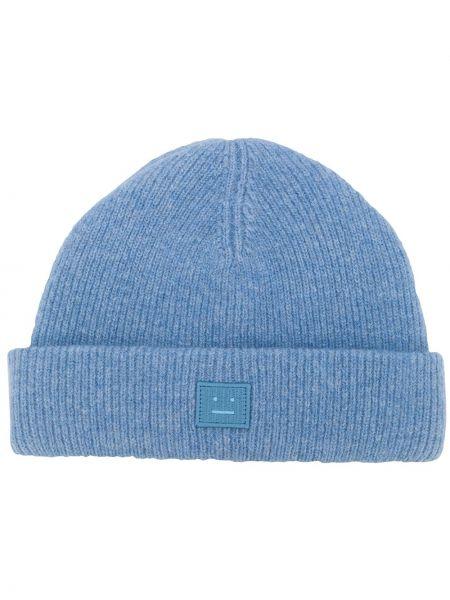 Niebieska czapka wełniana Acne Studios