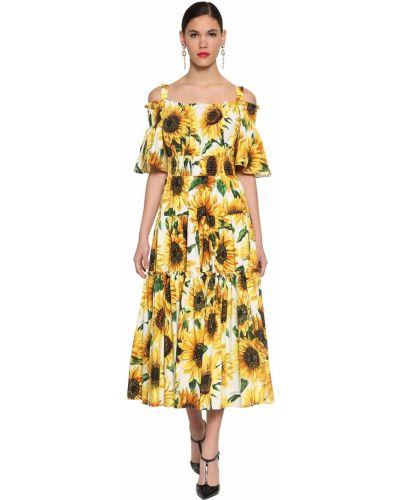 Расклешенное платье макси квадратное с декольте Dolce & Gabbana