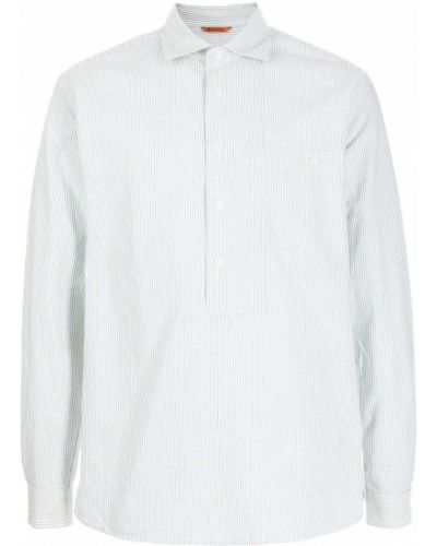 Biała biała koszula zapinane na guziki Barena